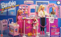 Barbie So Much To Do Post Office Playset (1995 Arcotoys, Mattel):
