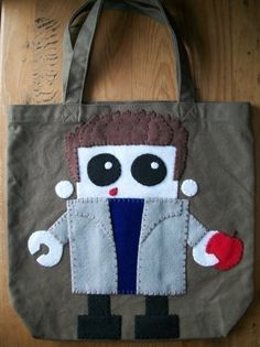 Edward Cullen Twilight Robot Tote Bag via Etsy $16.50  I think this is so cute.