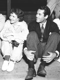 Claudette Colbert with Henry Fonda at the Fun House on V Pier for Carole's party June 1935