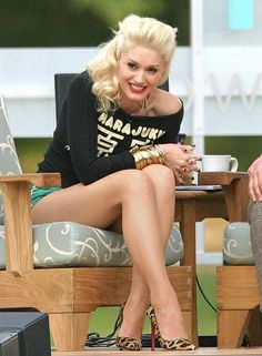 Gwen Stefani -- I love her!  The hair is always on!