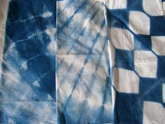 INDIGO Blue SHIBORI cotton for quilting home decor sewing crafts hand dyed art fabric from MyGypsyCottage on Etsy
