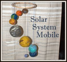 Solar System Mobile from Taming the Goblin