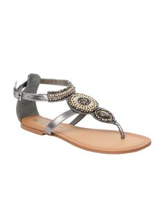 Silver gladiator style sandals, Peacocks, £14