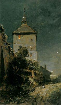 Carl Spitzweg — Der Blasturm in Schwandorf
