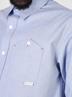 "Interesting ""upside down"" effect pocket detail on Men's Shirt"