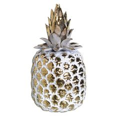 Chic Gold Pineapple with an Antiqued Finish from The Farthing