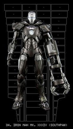 Iron Man mark XXXIV (Southpaw) 34