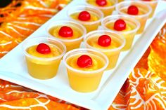 U is for: Upside Down Cake Jello Shots!! YUMM