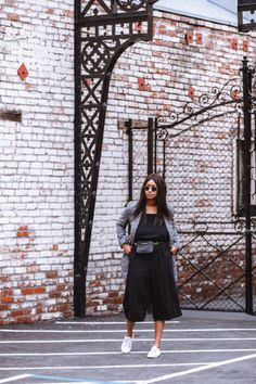 zara grey check blazer, old navy black cropped wide leg jumpsuit, old navy white sneakers,black michael kors bag, raybans