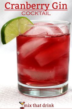 The Cranberry Gin cocktail is one of those amazingly simple, refreshing drink recipes that some bartenders have never heard of. It's a wonderful change from the vodka cranberry, with hints of juniper. Gin Drink Recipes, Vodka Drinks, Fun Cocktails, Cocktail Drinks, Fun Drinks, Cocktail Recipes, Alcoholic Drinks, Simple Gin Drinks, Coffe Drinks