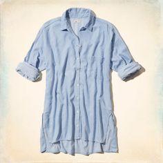 San Onofre Denim Boyfriend Shirt