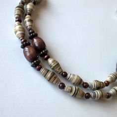 paper bead necklace to benefit orphans in Africa