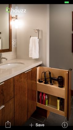 17 Mind-Blowing Bathroom Cabinet Ideas (Professional's Choices) 10 Get All Ideas About Home Who says cabinet is never fitted for bathroom? There are plenty of bathroom cabinet ideas that will be suitable for any kind of bathroom including the tiny Home, Bathroom Interior, Bathroom Decor, Vanity, Amazing Bathrooms, Bathrooms Remodel, Bathroom Furniture, Bathroom Storage, Bathroom Design