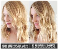 If you have blonde or highlighted hair that tends to go brassy, this one's for YOU! xo