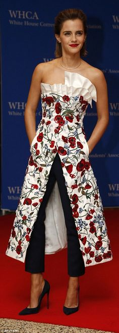 Emma Watson leads the White House's British invasion at Correspondents' Association Dinner | Daily Mail Online