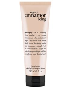 Beauty Products Infused With Fall Ingredients - Philosophy Sugar Cinnamon Icing Body Lotion from Beauty Care, Beauty Skin, Beauty Hacks, Philosophy Products, Perfume, Body Spray, Smell Good, Bath And Body Works, Body Wash