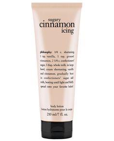 Philosophy Sugar Cinnamon Icing Body Lotion ($17; nordstrom.com) #InStyle