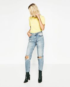 CROPPED MOM JEANS-Relaxed Fit-JEANS-WOMAN | ZARA United States