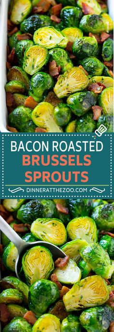 Bacon Roasted Brussels Sprouts Recipe   Crispy Brussels Sprouts   Brussels Sprouts with Bacon   Roasted Brussels Sprouts