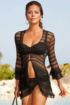Inspirações de Croche com Any Lucy: Saída de praia