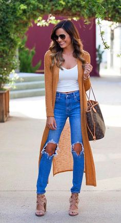 71 Cozy and Cute Fall Outfits with Long Cardigan Bar Outfits, Cute Fall Outfits, Fall Winter Outfits, Spring Outfits, Trendy Outfits, Fashion Outfits, Fashion Tips, Fashion Hacks, Cardigan Outfits