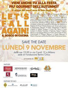 Let's Fall Again - il bosco in cucina 9 Novembre Milano