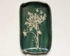 Queen Anne's Lace Small Ceramic Dish For Soap or by redbarnpottery, $14.00