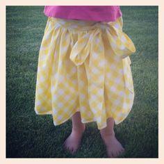 Toddler vintage sheet skirt.