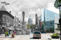 Then & Now Historic Art  State Street  Capital by ThenAndNowArt, $99.99