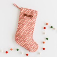 Adorable personalized chevron printed stocking. #holidaygifts #christmasgifts