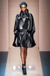 Gianfranco Ferré Fall 2013 RTW Collection #leather #jacket #black