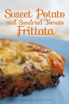 Sweet Potato and Sundried Tomato Frittata #breakfast #recipe #protein