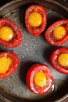 Baked Egg and Tomato Cups | 21 Easy 3-Ingredient Snacks That Are Actually Good For You