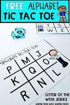 Looking for alphabet activities for your preschool or kindergarten students? This FREE Alphabet Tic Tac Toe is perfect for centers or for practice at home. Click through to see all the details for this letter activity and to get your free printable.