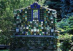 Creating a dome, shrine area made of recycled bottles