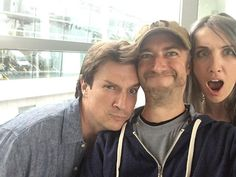 I bumped into Nathan Fillion in Moscow, naturally. Sean Gunn on instagram Sept 29, 2016