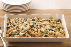 Chicken-Penne Florentine Bake recipe