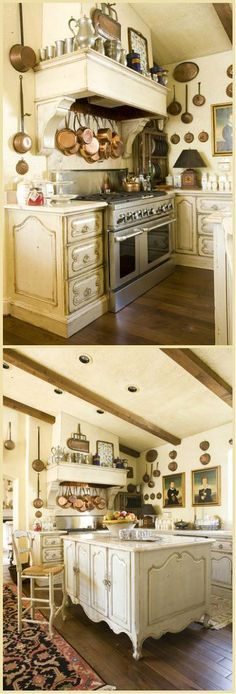 Cottage Décor ● Kitchen :: Really like most of this ... except the drawer fronts, mainly