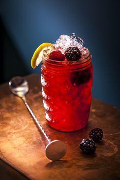 The perfect Summer cocktail.. Blackberry & Elderflower Sundowner! #foodie #coctail