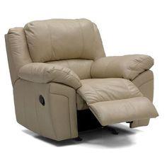 Palliser Furniture Daley Rocker Recliner Upholstery: Bonded Leather - Champion Java, Type: Power
