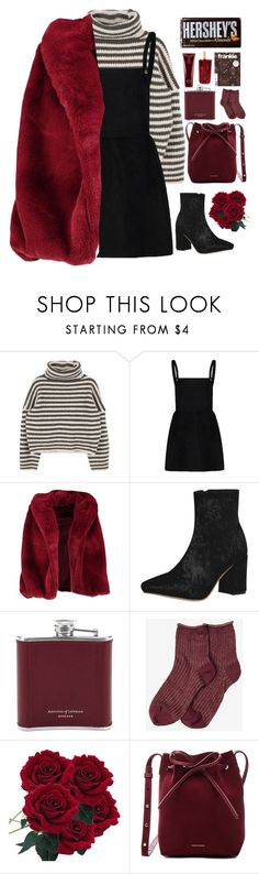 """""""• Faux Fur •"""" by xashleighxo ❤ liked on Polyvore featuring Boohoo, Aspinal of London, Mansur Gavriel and Oribe"""
