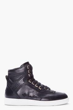 on sale 926bb e07d5 DSQUARED2 black Sugar Hill Alta sneakers Girls Sneakers, Wedge Sneakers,  High Top Sneakers,