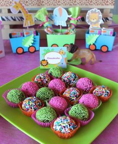 Baby Jungle Animals Birthday Party Ideas | Photo 4 of 11 | Catch My Party
