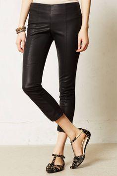 Cropped Vegan Leather Leggings - anthropologie.com