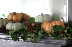 A simple and easy natural fall mantel doesn't have to be hard to create. Check out how to throw one together quickly and easily with just a few fall items!