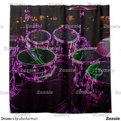 Drums 1 shower curtain