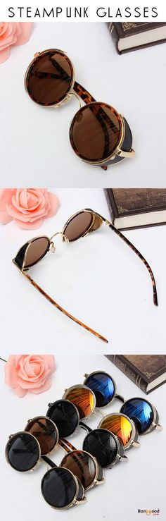 US$9.99+Free shipping. Unisex Glasses, Men Glasses, Women Glasses, Round Mirror Lens Glasses, Steampunk Vintage Design, Portable for you to carry, More attractive, As a perfect gift for yourself or your friends.