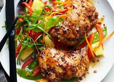 16 Incredible Recipes For Chicken Thighs Tasty Chicken Thigh Recipe, Chicken Thigh Recipes, Chicken Thighs Dinner, Slow Cooker Chicken Thighs, Chicken Breasts, Yum Yum Chicken, Bbq Chicken, Smoked Chicken, Asian Chicken