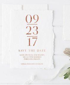 Printable Modern Save the Date, Simple, Rose Gold Foil, Pink, Foil, Save the Date, Minimalist Save The Date, Simple JPG & PDF (005)