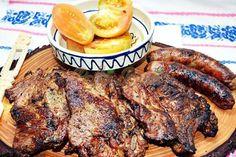 Ceafa marinata, la gratar Barbecue Grill, Grilling, Romanian Food, Romanian Recipes, Backyard Bbq, Food And Drink, Meat, Instant Pot, Sauces